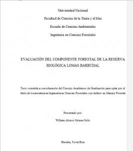 TFG UNA Forestal